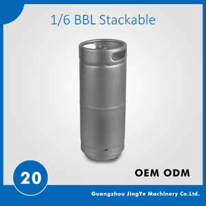US 1/6  beer keg stackable